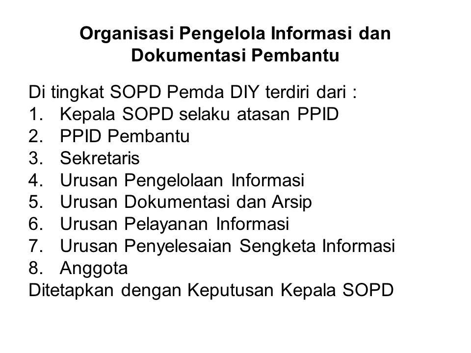 Organisasi Pengelola Informasi dan Dokumentasi Pembantu