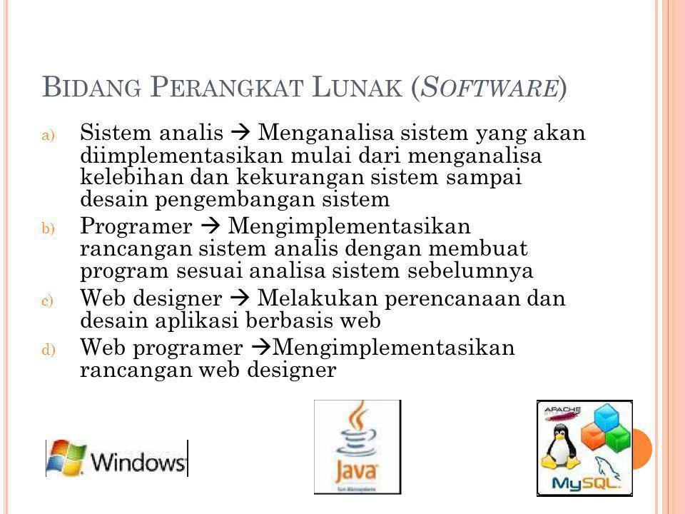 Bidang Perangkat Lunak (Software)
