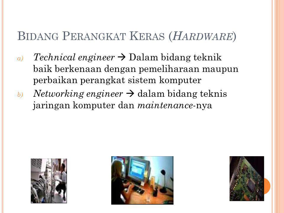 Bidang Perangkat Keras (Hardware)