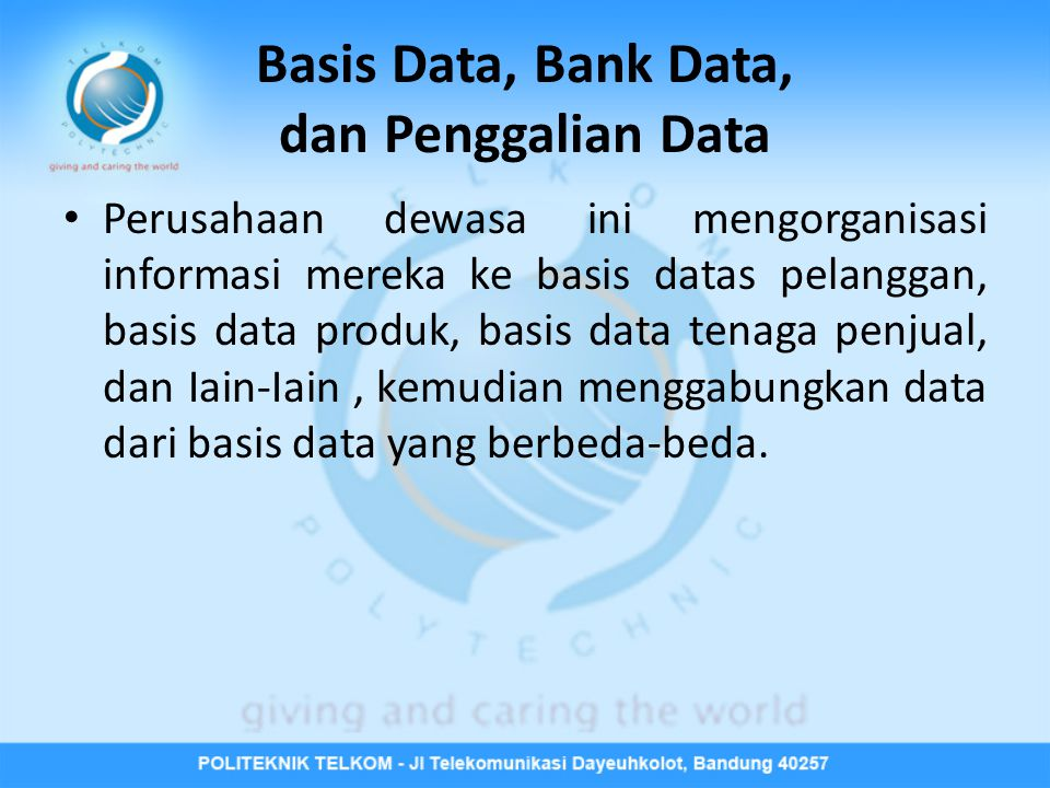 Basis Data, Bank Data, dan Penggalian Data