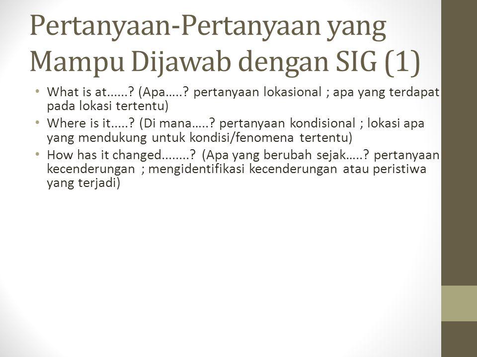 Pertanyaan-Pertanyaan yang Mampu Dijawab dengan SIG (1)