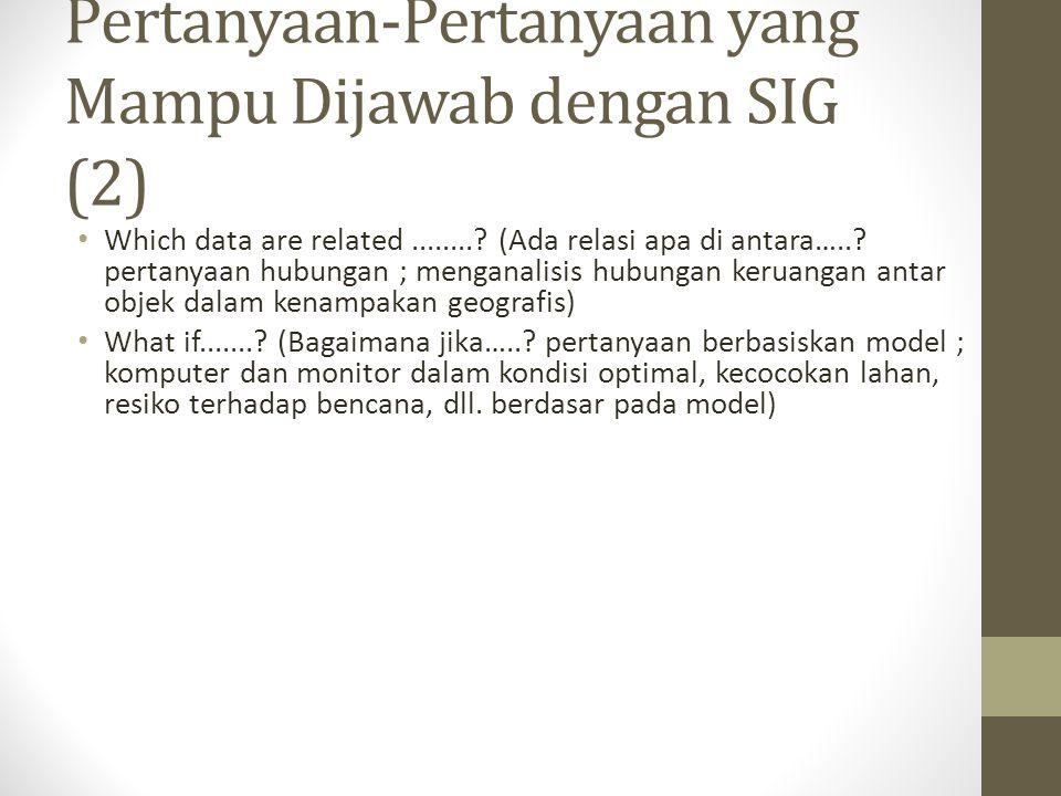 Pertanyaan-Pertanyaan yang Mampu Dijawab dengan SIG (2)