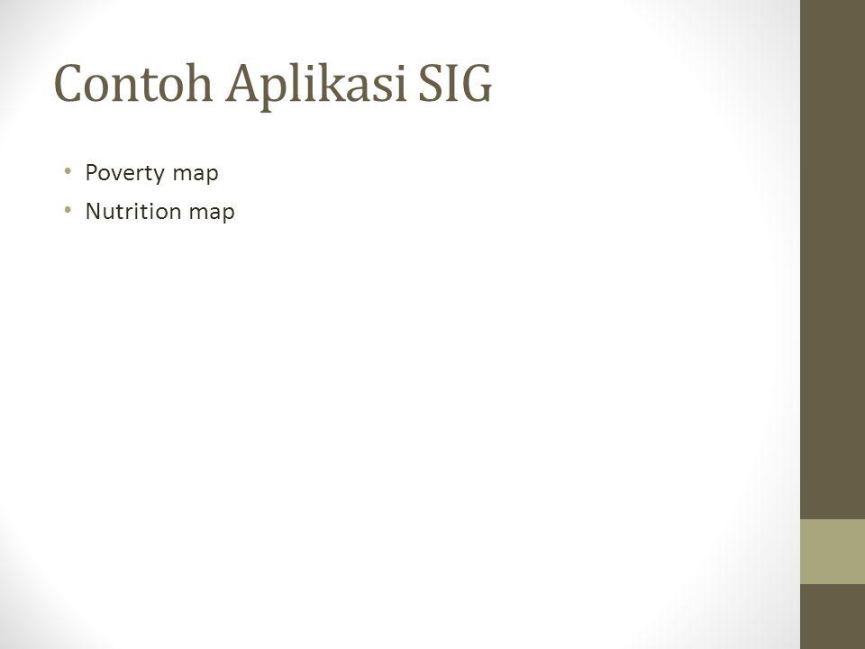 Contoh Aplikasi SIG Poverty map Nutrition map