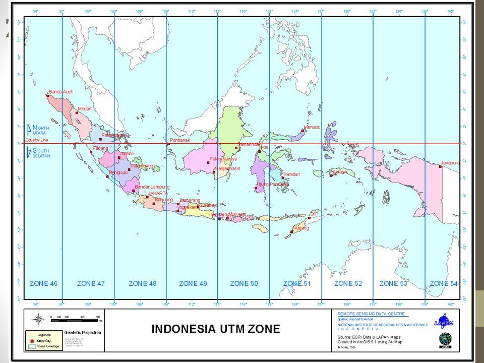 Zone UTM Wilayah Indonesia