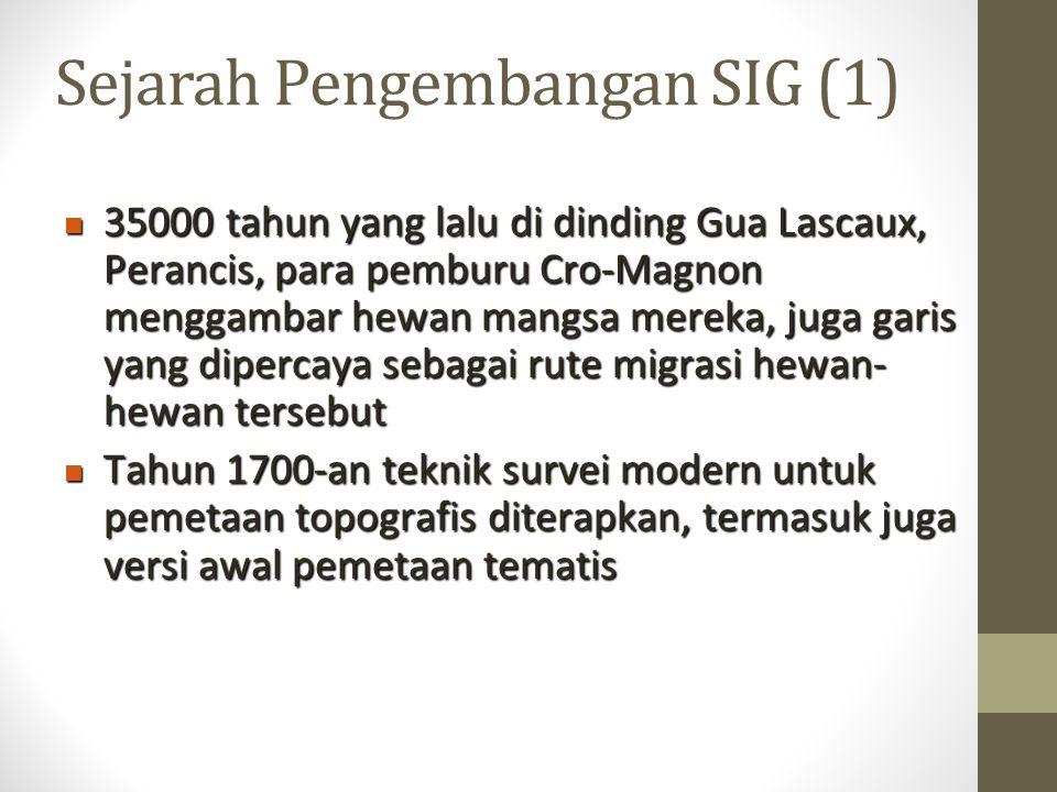 Sejarah Pengembangan SIG (1)