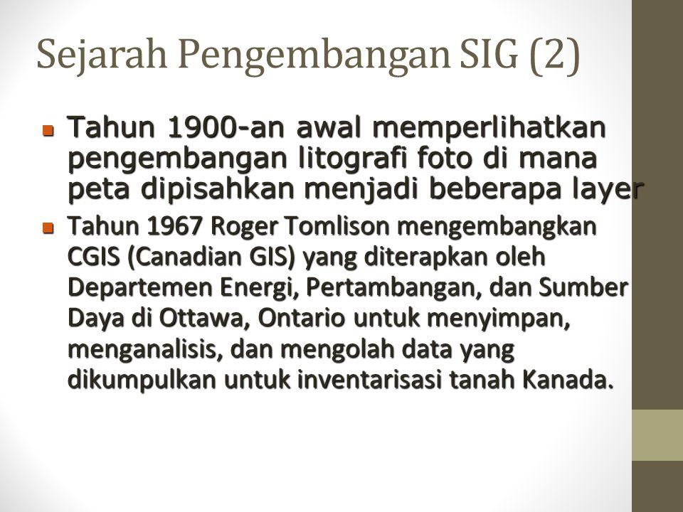Sejarah Pengembangan SIG (2)