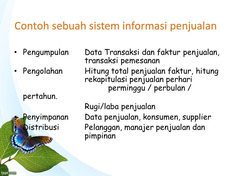 Contoh sebuah sistem informasi penjualan