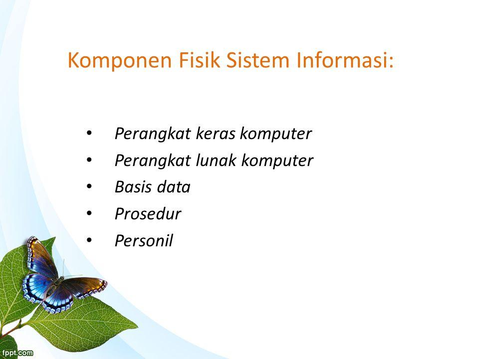 Komponen Fisik Sistem Informasi: