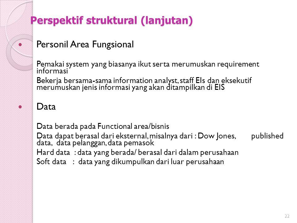 Perspektif struktural (lanjutan)