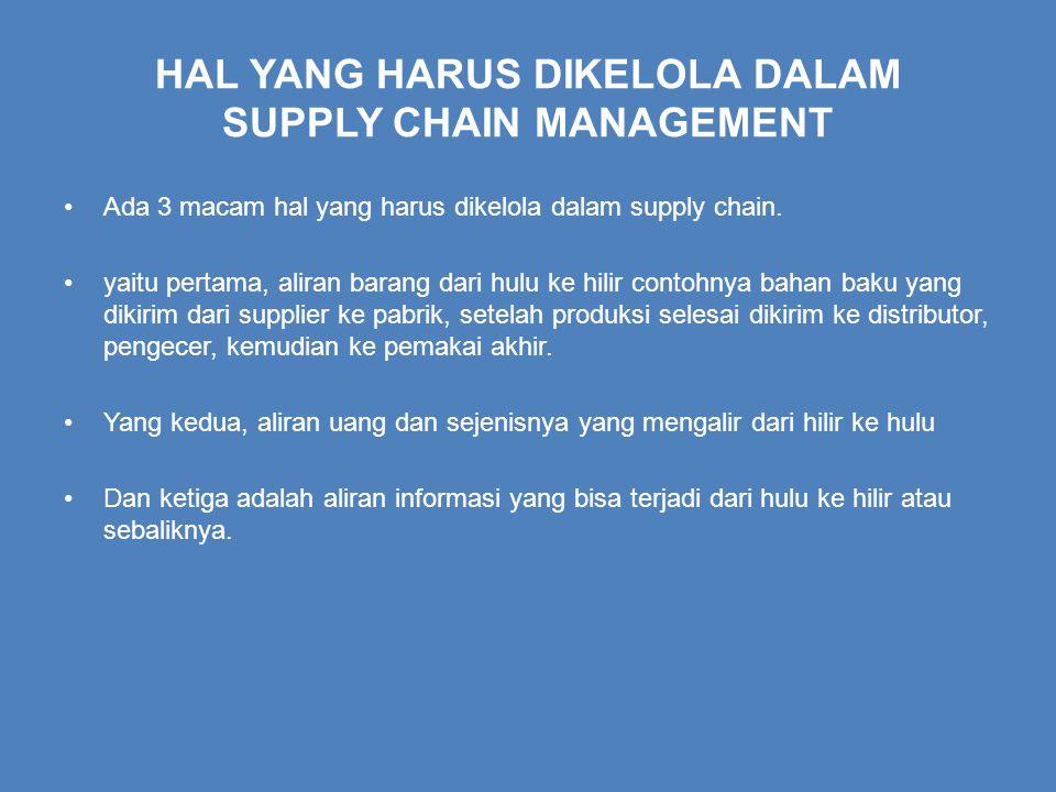 HAL YANG HARUS DIKELOLA DALAM SUPPLY CHAIN MANAGEMENT