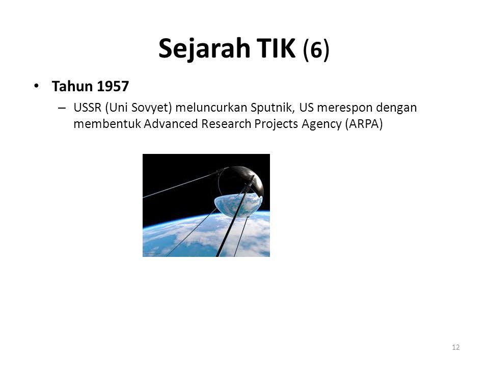 Sejarah TIK (6) Tahun 1957.