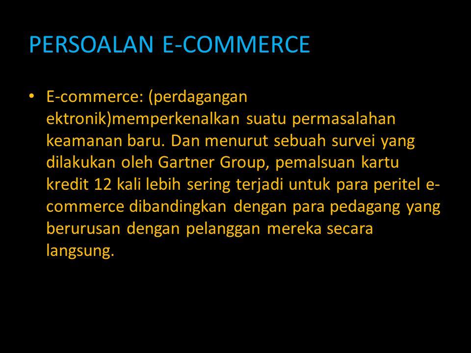 PERSOALAN E-COMMERCE