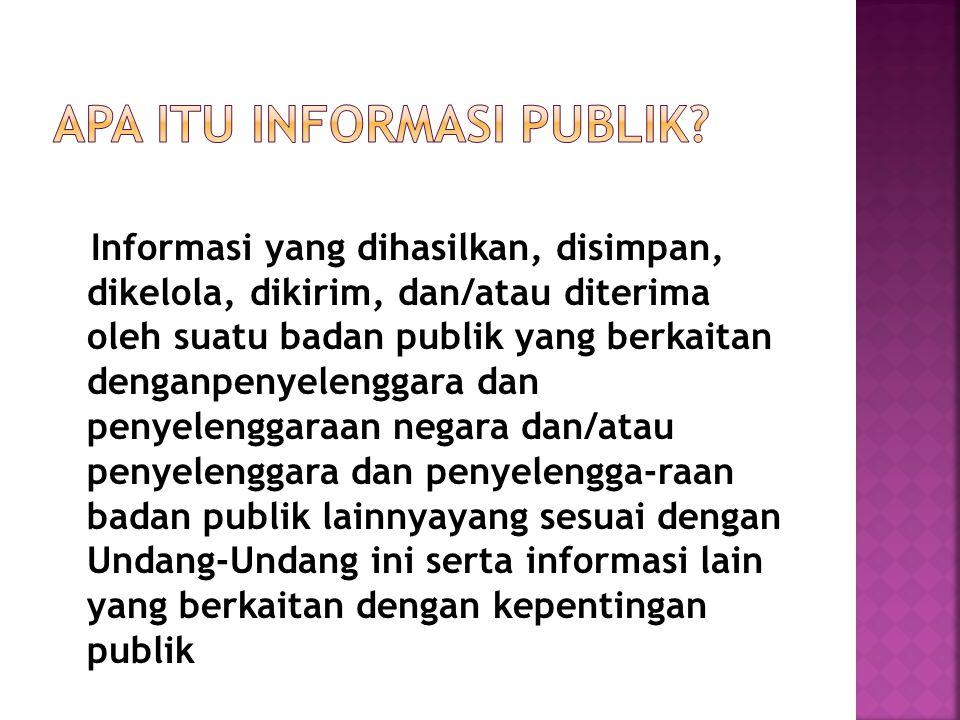 Apa itu Informasi Publik