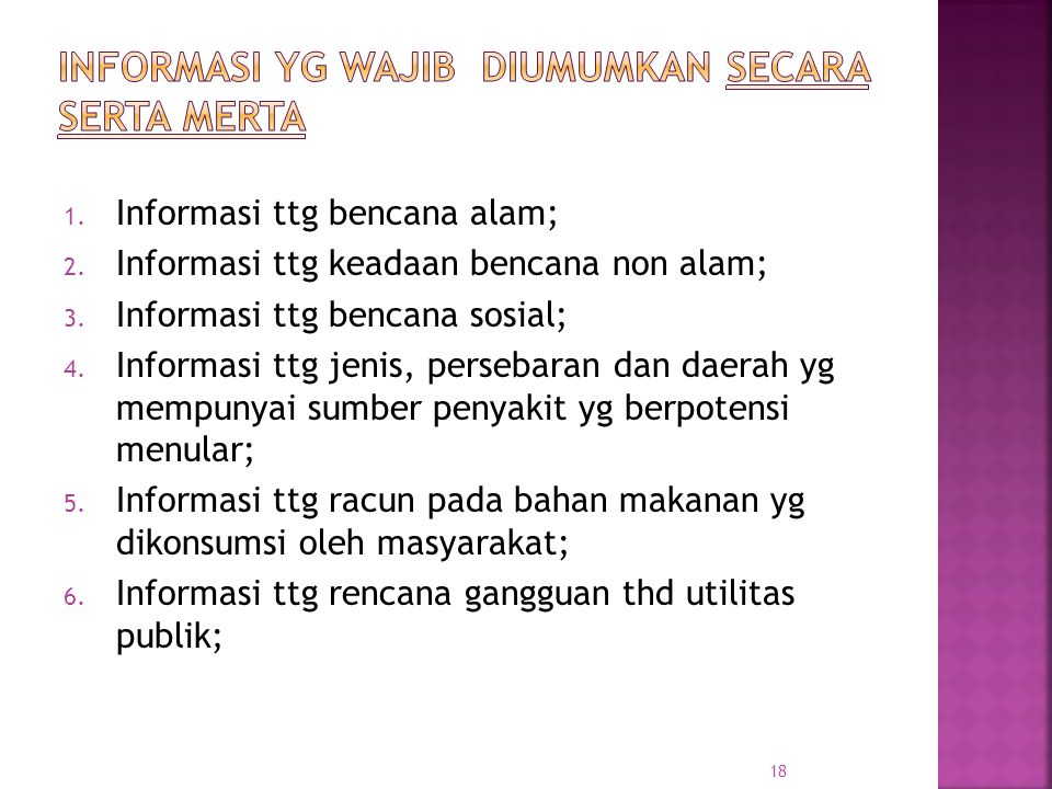 Informasi yg wajib diumumkan secara serta merta
