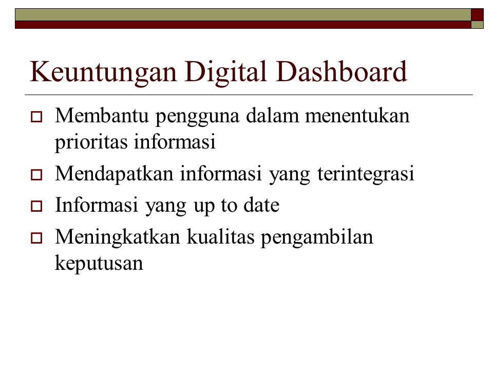 Keuntungan Digital Dashboard