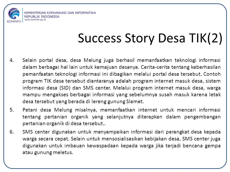 Success Story Desa TIK(2)