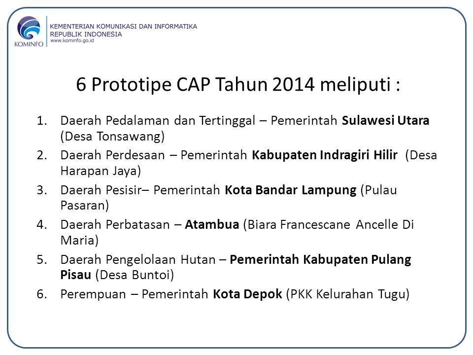 6 Prototipe CAP Tahun 2014 meliputi :