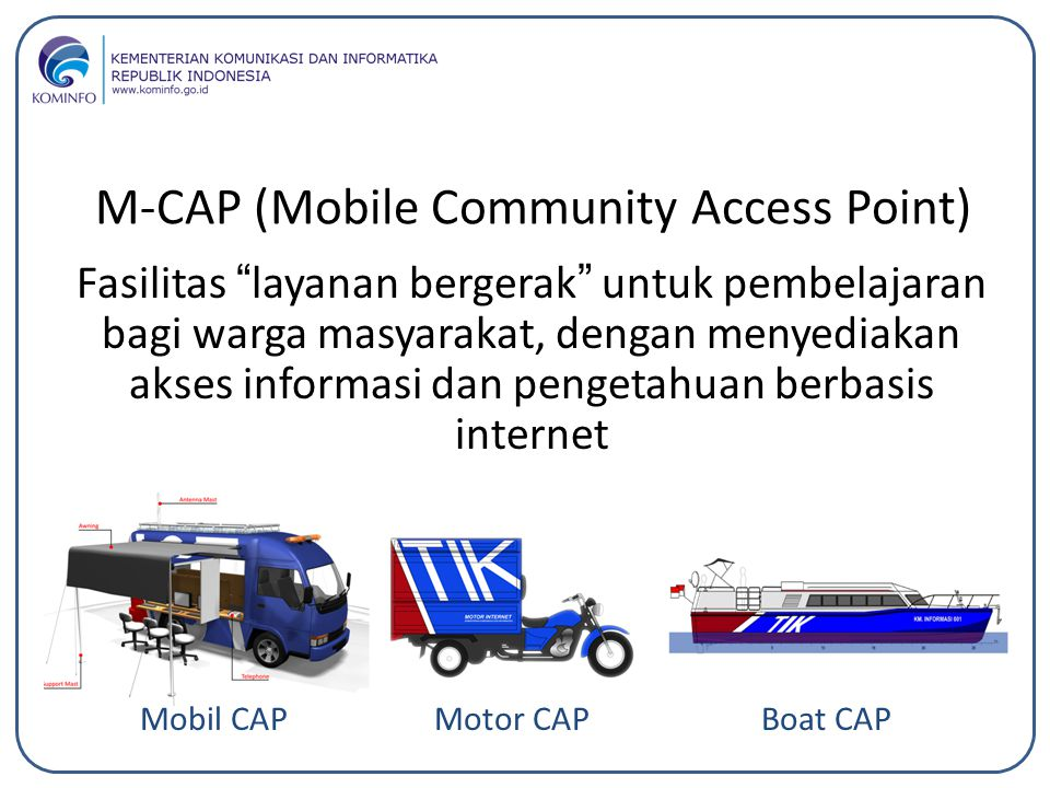 M-CAP (Mobile Community Access Point)