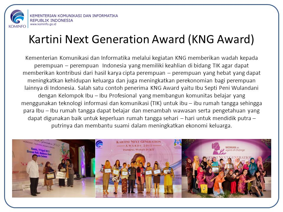 Kartini Next Generation Award (KNG Award)