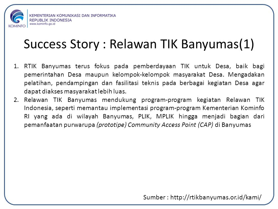 Success Story : Relawan TIK Banyumas(1)