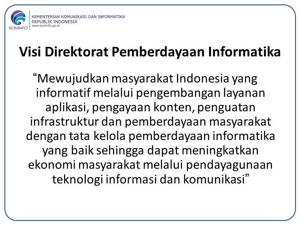 Visi Direktorat Pemberdayaan Informatika