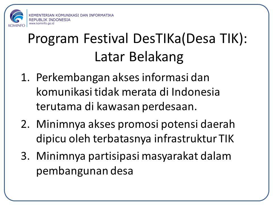 Program Festival DesTIKa(Desa TIK): Latar Belakang