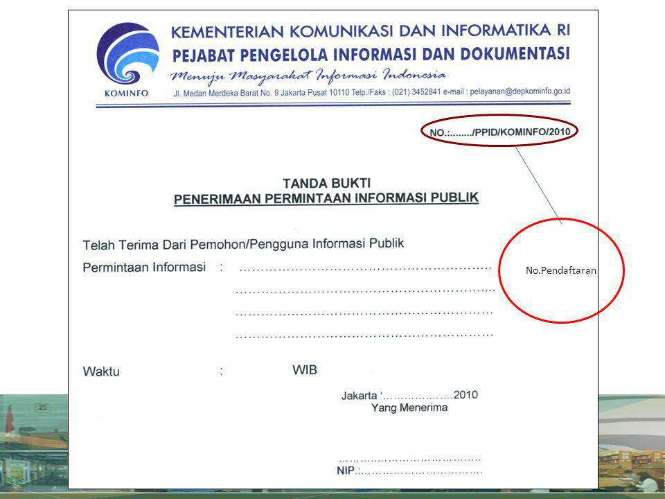No.Pendaftaran