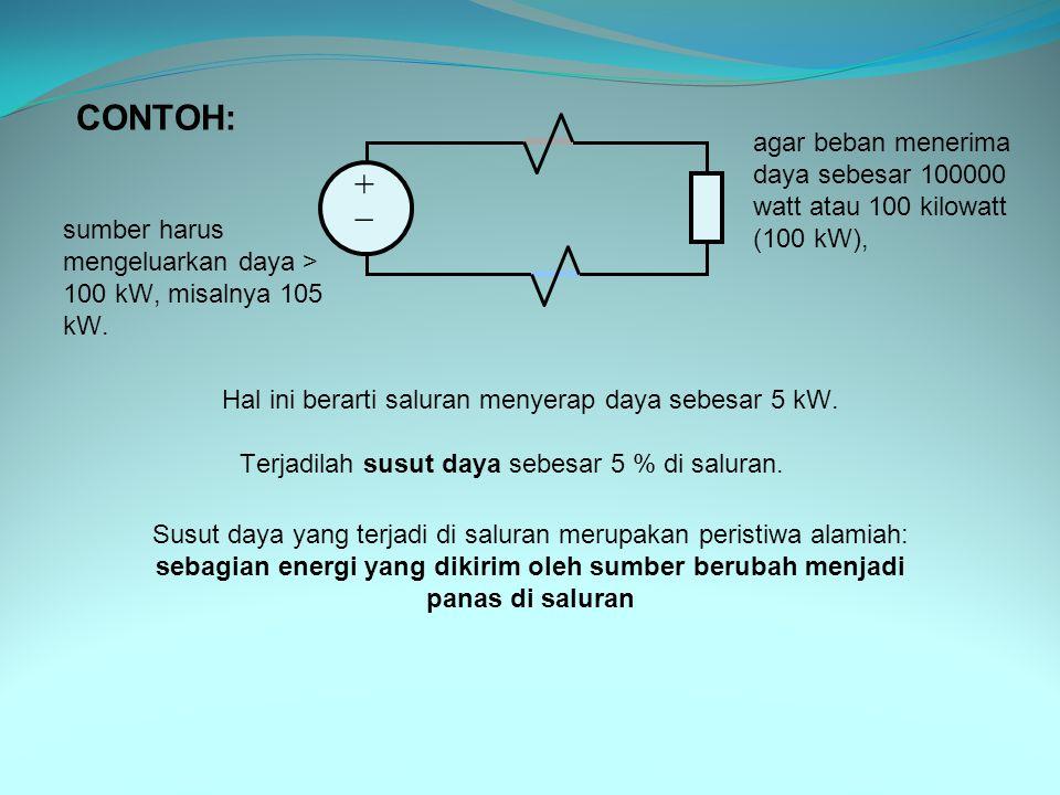 Hal ini berarti saluran menyerap daya sebesar 5 kW.