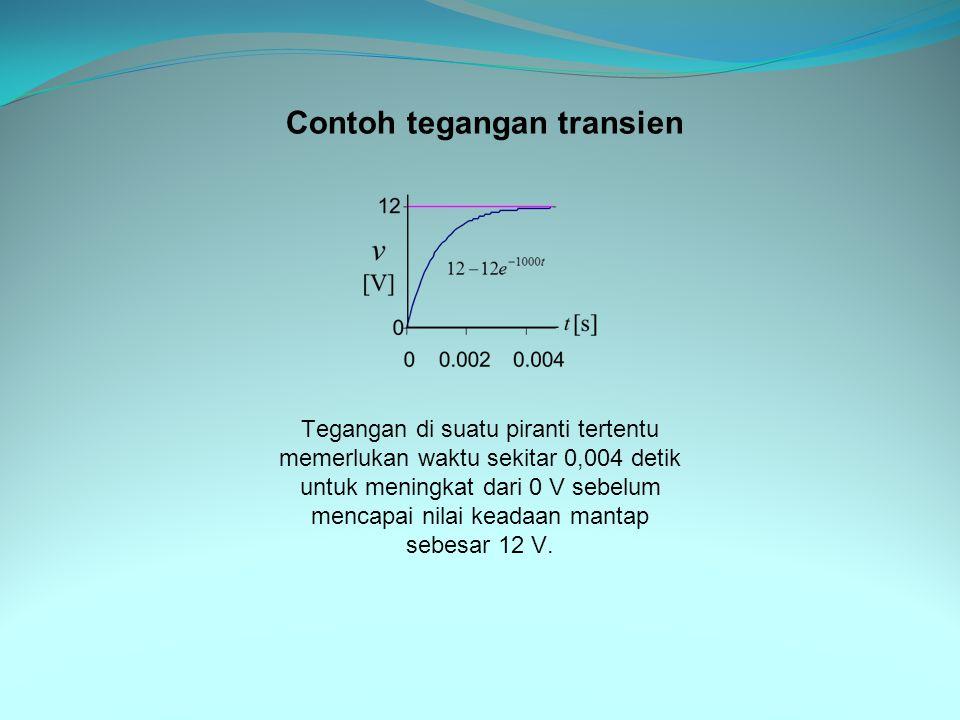 Contoh tegangan transien