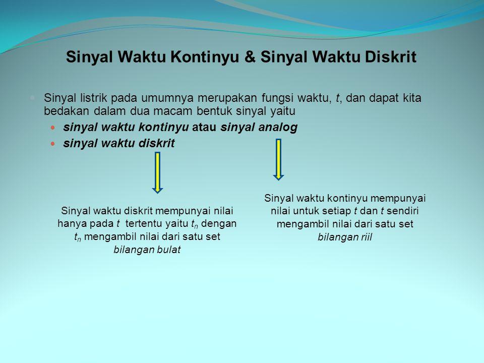 Sinyal Waktu Kontinyu & Sinyal Waktu Diskrit