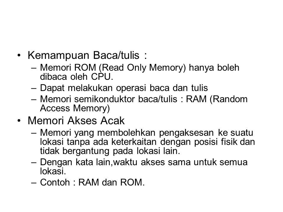 Kemampuan Baca/tulis :