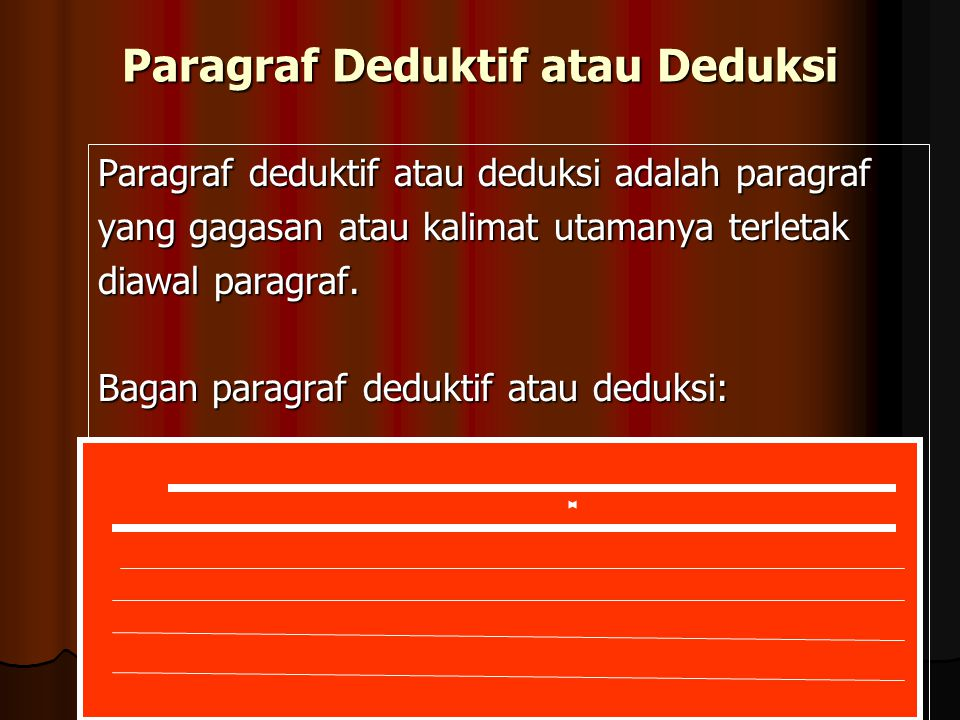 Paragraf Deduktif atau Deduksi