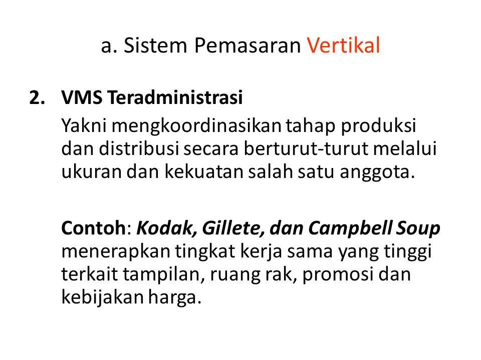 a. Sistem Pemasaran Vertikal