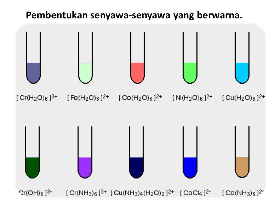 Pembentukan senyawa-senyawa yang berwarna.