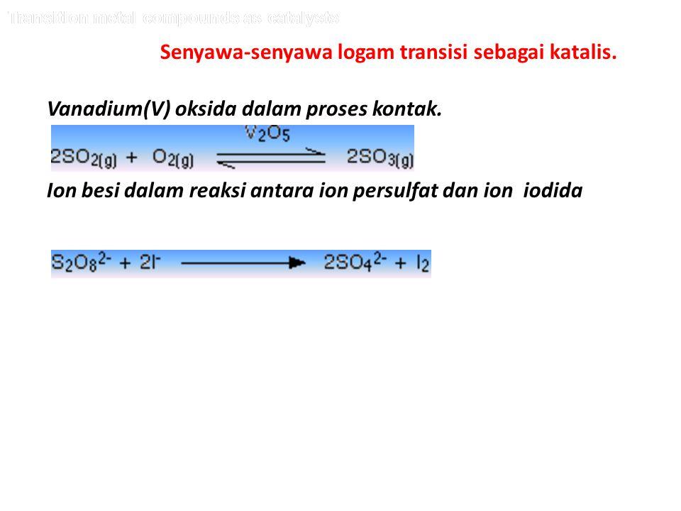 Senyawa-senyawa logam transisi sebagai katalis.