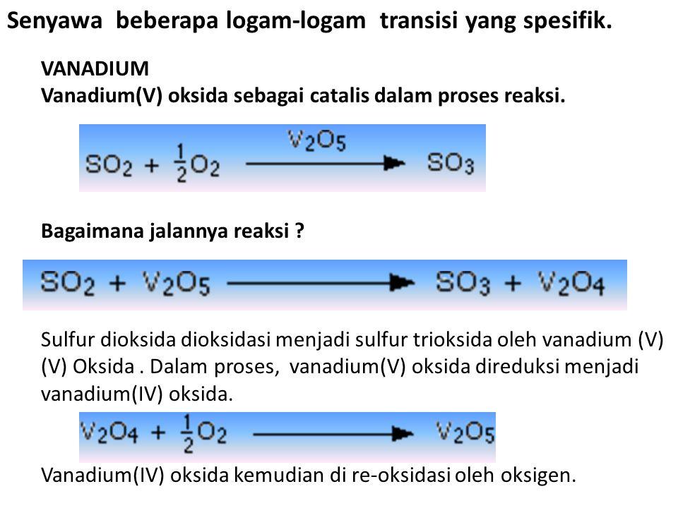 Senyawa beberapa logam-logam transisi yang spesifik.
