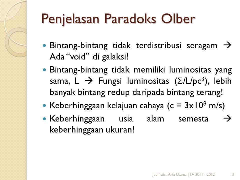 Penjelasan Paradoks Olber