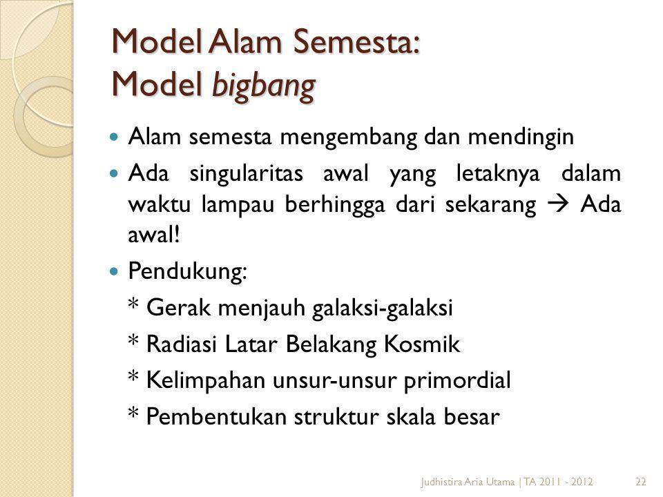 Model Alam Semesta: Model bigbang