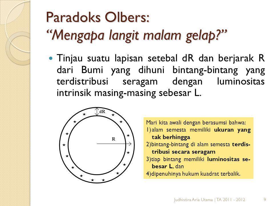 Paradoks Olbers: Mengapa langit malam gelap