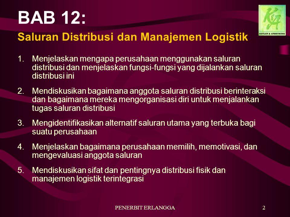 BAB 12: Saluran Distribusi dan Manajemen Logistik