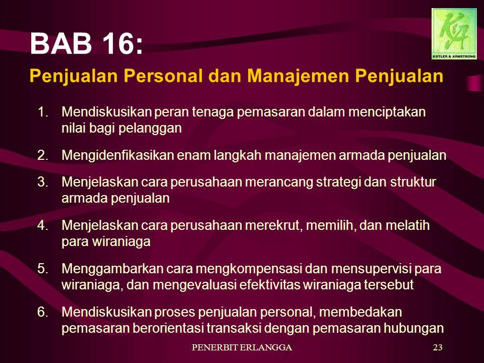 BAB 16: Penjualan Personal dan Manajemen Penjualan