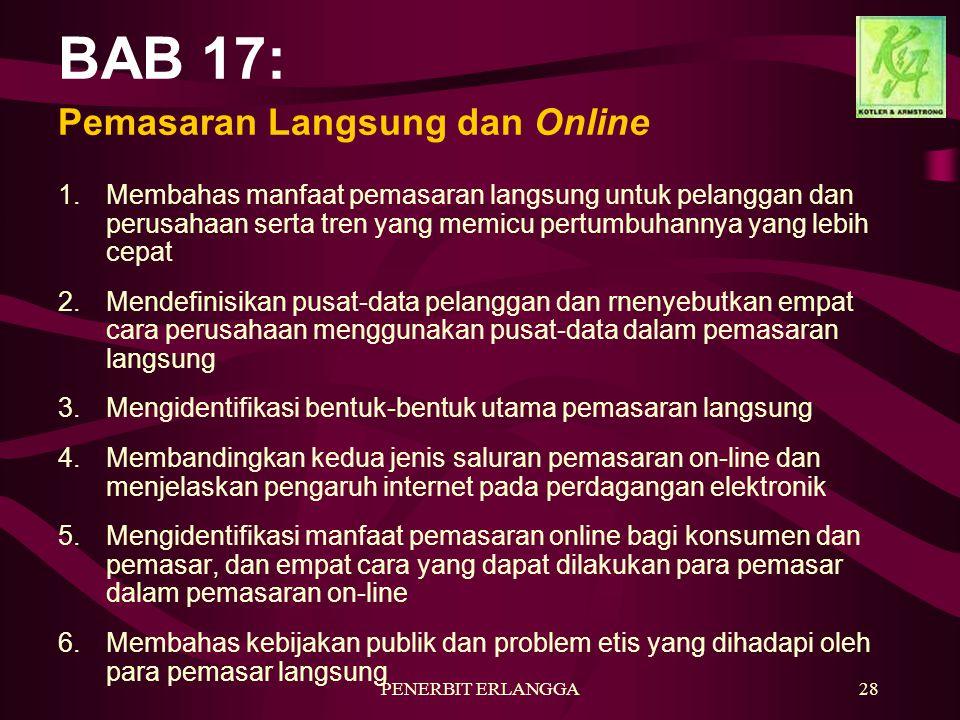 BAB 17: Pemasaran Langsung dan Online