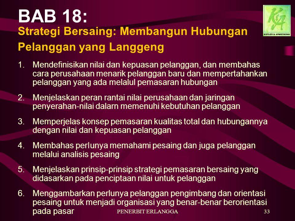 BAB 18: Strategi Bersaing: Membangun Hubungan Pelanggan yang Langgeng