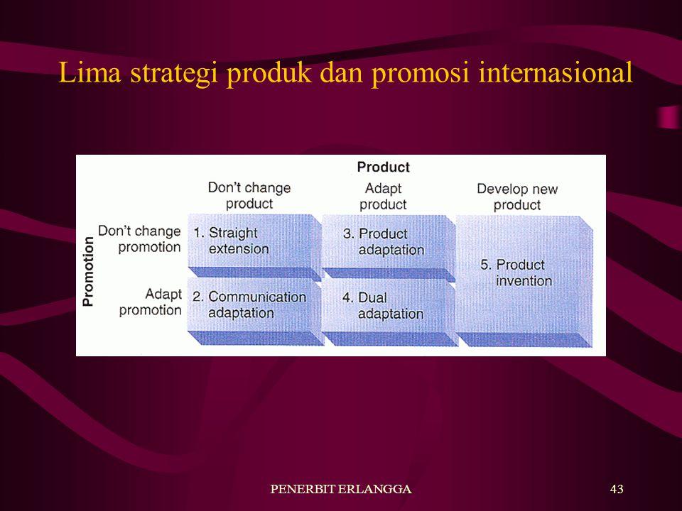 Lima strategi produk dan promosi internasional