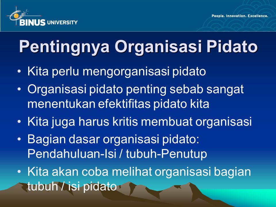 Pentingnya Organisasi Pidato