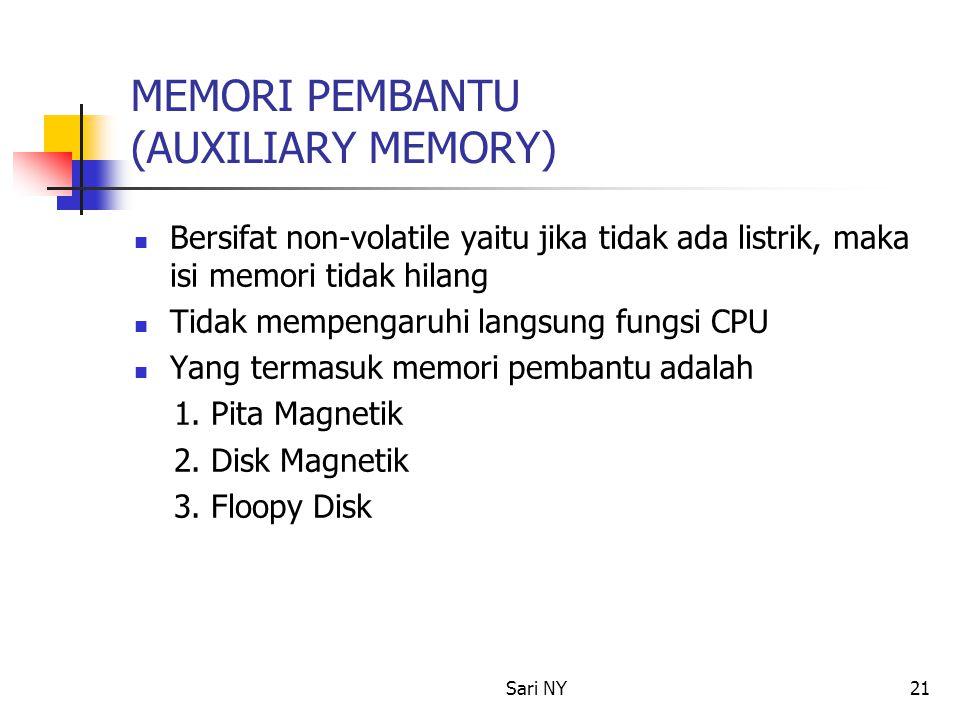 MEMORI PEMBANTU (AUXILIARY MEMORY)