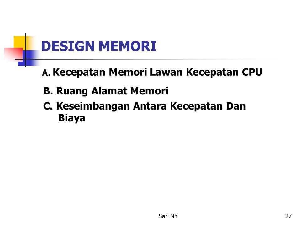 DESIGN MEMORI B. Ruang Alamat Memori