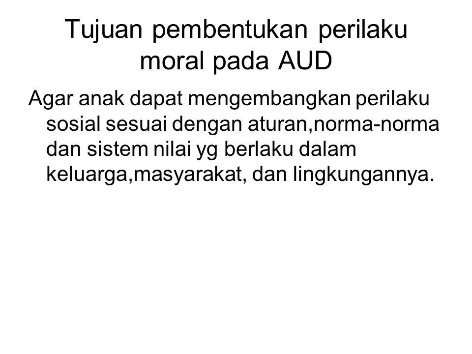 Tujuan pembentukan perilaku moral pada AUD