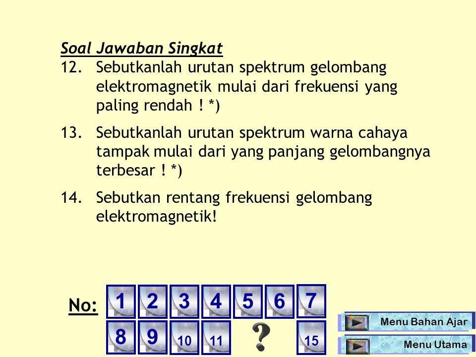 1 2 3 4 5 6 7 8 9 No: Soal Jawaban Singkat