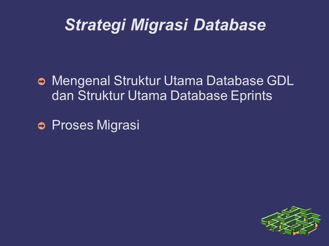Strategi Migrasi Database